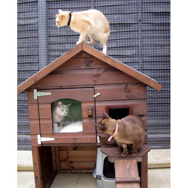 Casas para gatos en exterior accesorios para gatos - Casa para gato ...