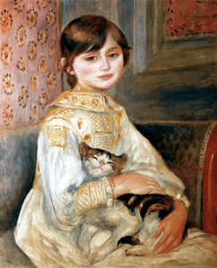 Juliet Manet con su gato